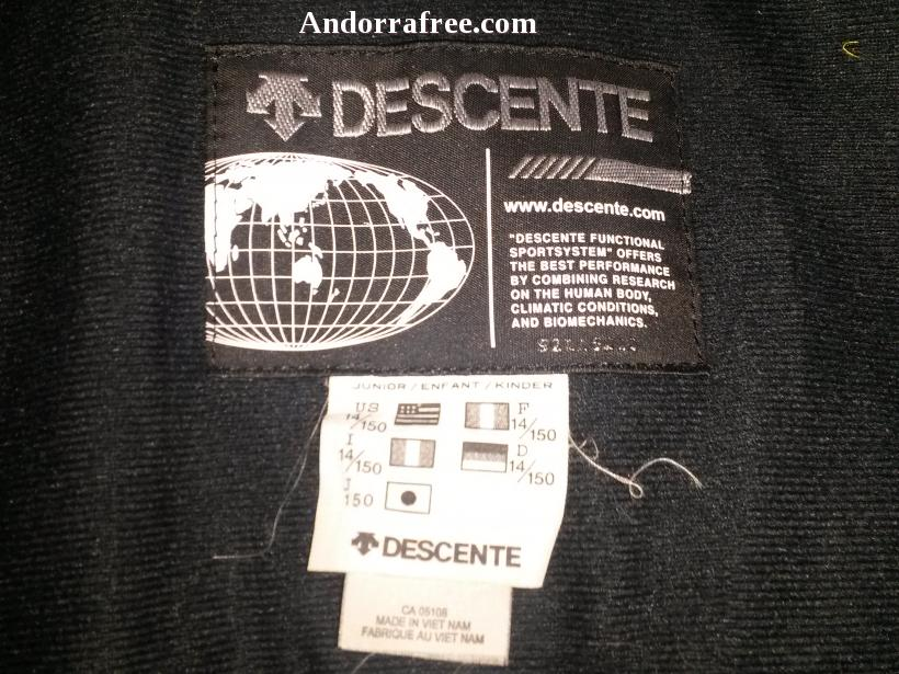 DESCENTE SKI/SNOWBOARD ANORAK ION BODY. TALLA 14 USA (JUNIOR) #1