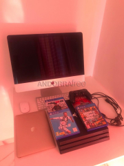Apple imac, apple macbook air and ps 4 console