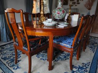 Rosewood dining table with 8 chairs - mesa de comedor rosewood con 8 sillas