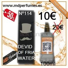 Perfume hombre nº114 devid of fria water 100ml  10€  equivalente