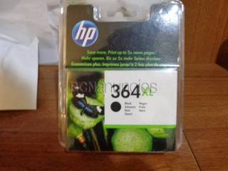 2 cartuchos hp 364 xl. color negro