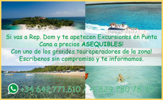 Excursiones asequibles punta cana.