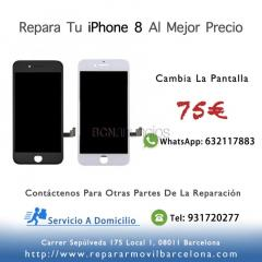 reparar pantalla iphone8