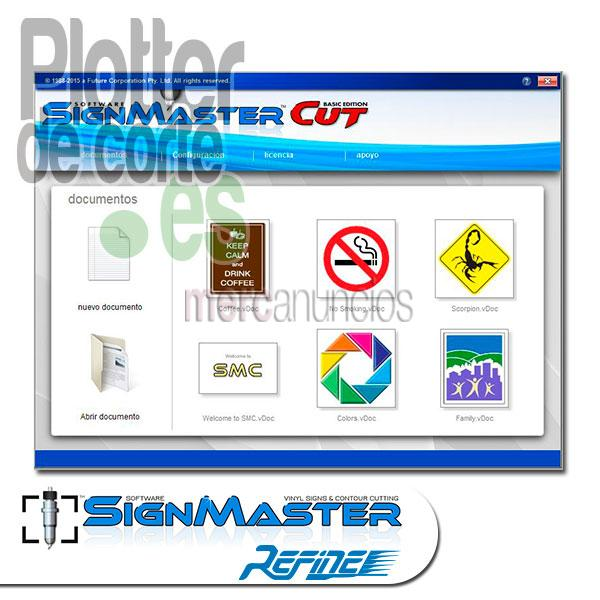 Plotter de corte Refine EH721 con SignMaster software
