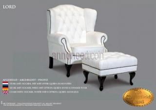 Fauteuil Lord Chesterfield avec Tabouret