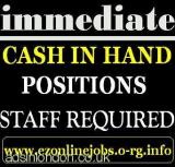 CASH Paying Vacancies (Immediate Start) (London, Grt London, UK) All London