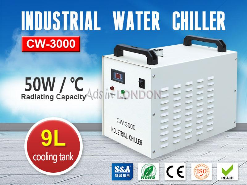 S&a industrial water chiller cw-3000 for cnc spindle engraving machine #1
