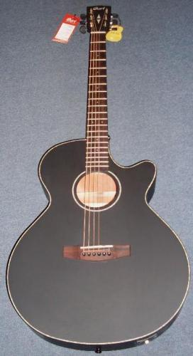 Cort SFXE-BKS Electro-Acoustic Guitar - Brand New - Black Satin Finish #1