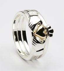 3 Piece beautiful Claddagh Ring  #1