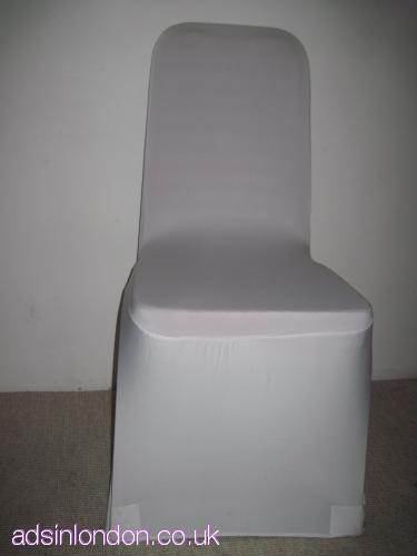 Pack of 100 white spandex chair covers for sale at  £240