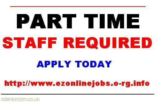 Part Time Staff Required Urgent.