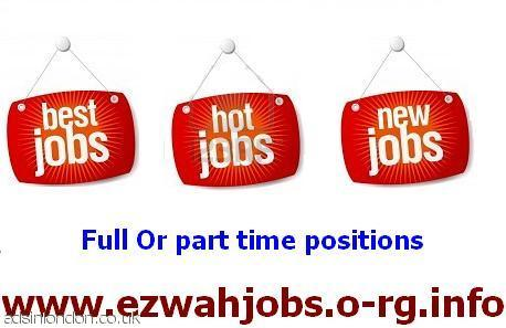 URGENTLY P-T / F-T STAFF REQUIRED.
