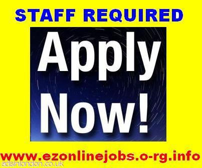 Staff required - full time, Part time.