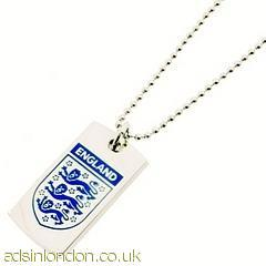 England tag pendant&chain gift boxed  #1