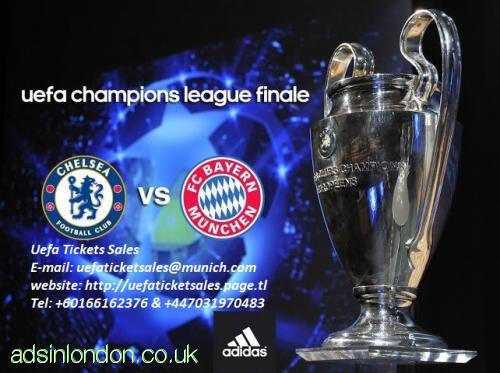 WTS: 2012 Uefa Champions league Final Bayern Vs Chelsea Tickets