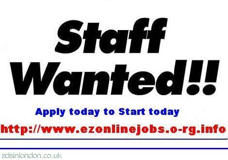 Staff wanted, Part time - full time.