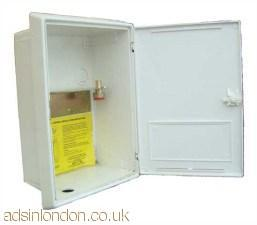 White Inset Gas Meter Boxes