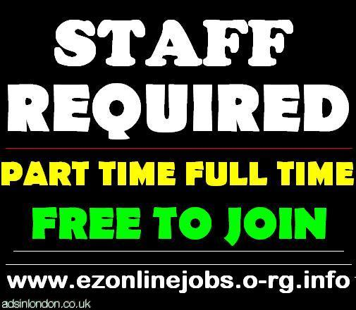 Part Time Staff Required, Join Today.
