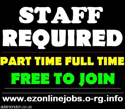 Part Time Staff Required, Cash In Hand.