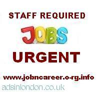 Staff wanted urgent to start this Week
