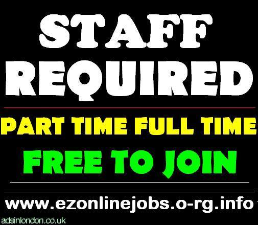 Part-time staff required, Real CASH.