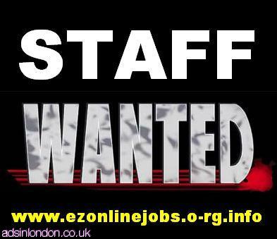 WEEKLY Staff Required, Part Time / Full Time.