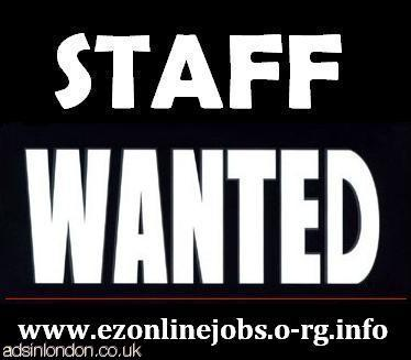 WEEKLY Staff Needed, Part Time / Full Time.
