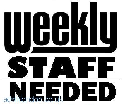 10 x Part Time Staff Required URGENTLY