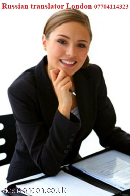 Russian translator for your business  Confidential  London  Mayfair