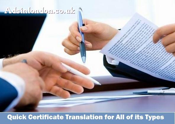 Quick Certificate Translation for All of its Types