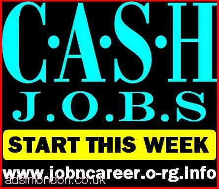 2 x CASH In Hand Jobs To Start This Week