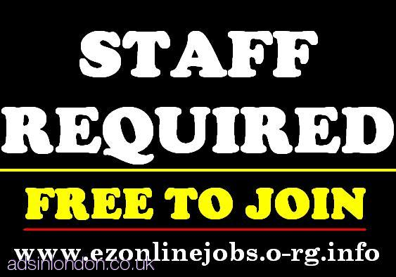 Urgently Full & Part Time Staff Required.