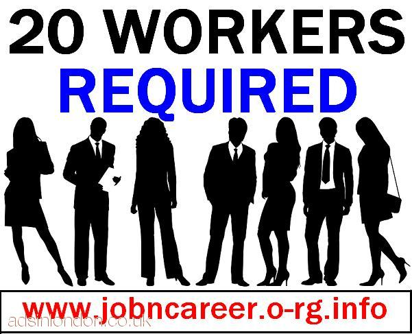 REQUIRED 20 Part Time Workers Immediately.