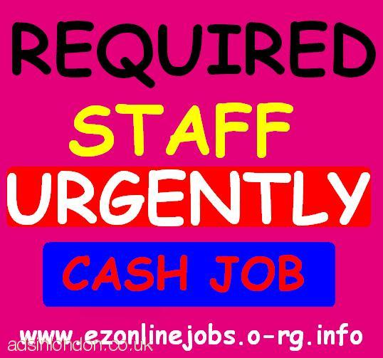 NEW CASH JOBS, (2 x P/T Workers Required)