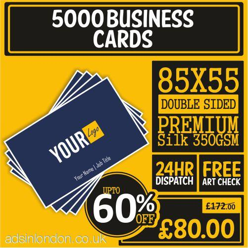 5000 Double Side Business Cards| Business Card Sizes *85x55mm
