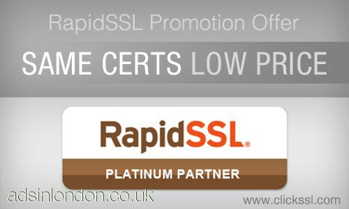 Get the best deal on RapidSSL Certificates starting from $9