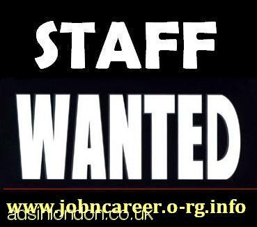Part Time & Full Time Staff Needed URGENTLY
