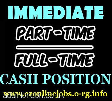 CASH POSITIONS, Part/Time Staff Required