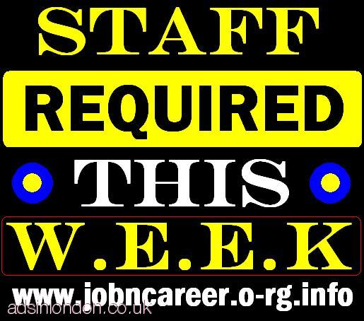 10 x STAFF Required For Start This Weeks
