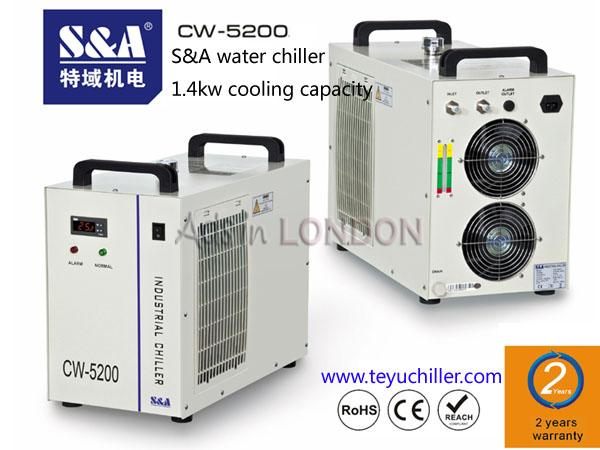 S&A CW-5200 water chiller to cool turbomolecular pump #1