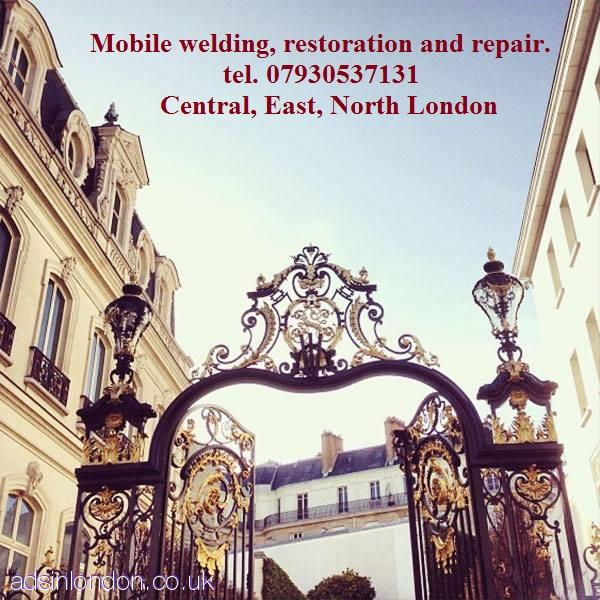 Mobile welding, restoration, repair  Welder, engineer  Central London
