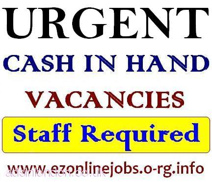 Needed Part and Full time Staff, CASH Pay