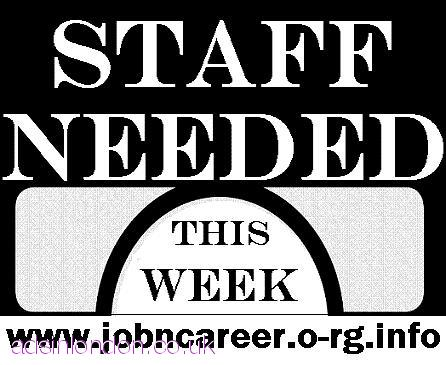 URGENTLY Staff Required To Start This Week.