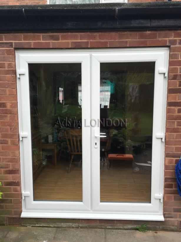 WHITE UPVC FRENCH DOORS 1200MM X 2100MM