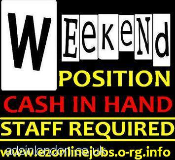 Urgent Staff Wanted To Start This WEEKEND