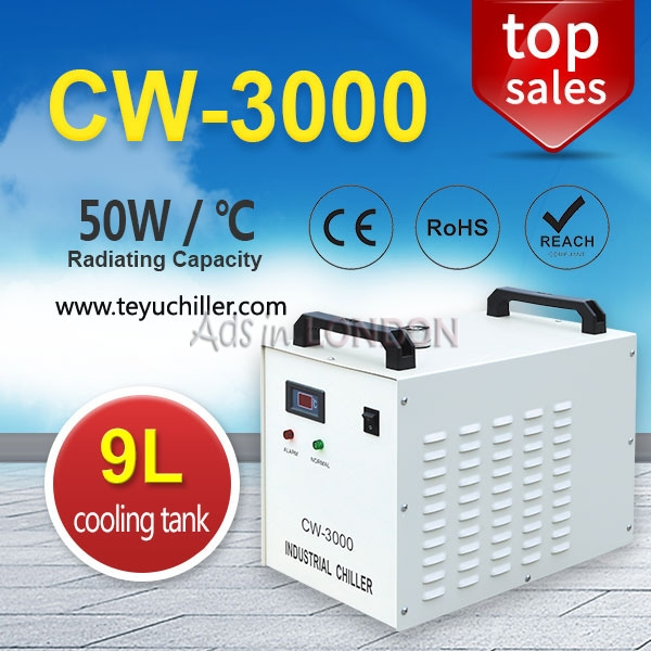Portable industrial water chiller cw 3000 for cnc spindle