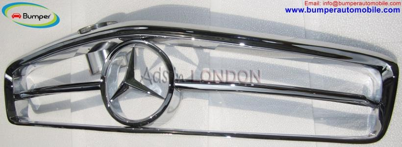 Mercedes w113 grille bumper ( ) stainless steel #1