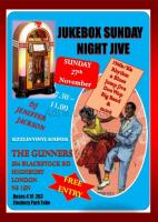 Jukebox Sunday Night Jive  free 50's jive event 27th November 2017