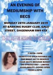 [28 Jan - 29 Jan] An Evening of Mediumship with Becs