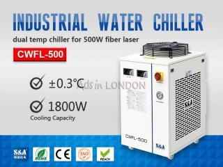 S&a water chiller machine cwfl-500 for cooling 500w fiber laser #1